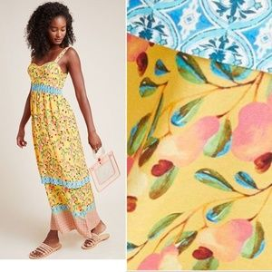 NEW Farm Rio for Anthropologie Anjou Maxi Dress